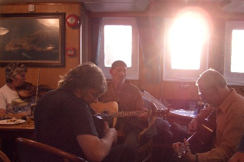 Music and ambience below decks